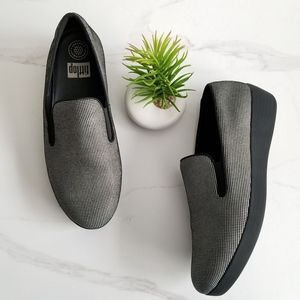 FITFLOP Superskate Houndstooth Black White Loafers